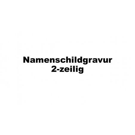 Gravur Namenschild, 2-zeilig, zu s:box 13